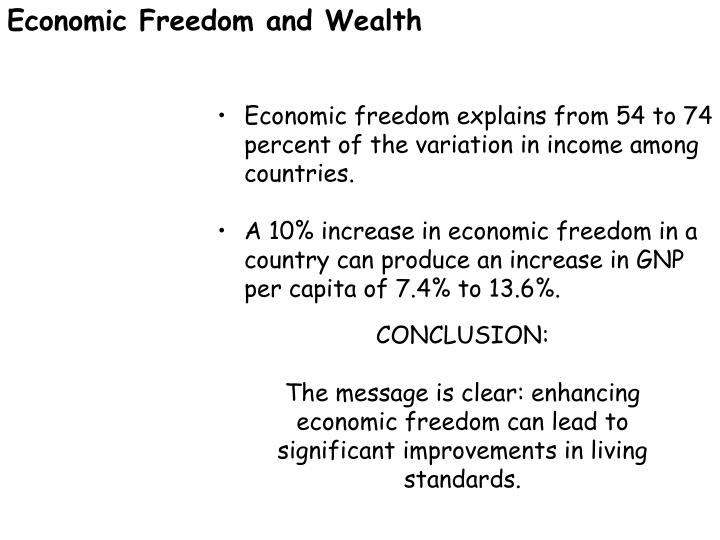 Economic Freedom and Wealth