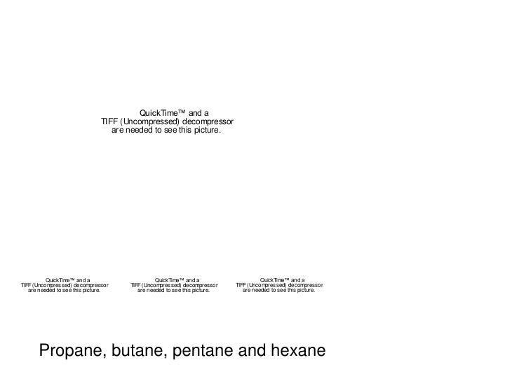 Propane, butane, pentane and hexane