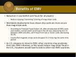 benefits of emv