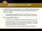 card associations emv2
