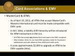 card associations emv4