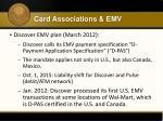card associations emv8