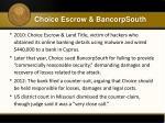 choice escrow bancorpsouth