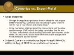 comerica vs experi metal3