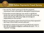 frb dallas payments fraud survey2