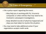 in case of emergency1