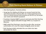 park sterling bank wallace pittman