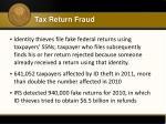 tax return fraud