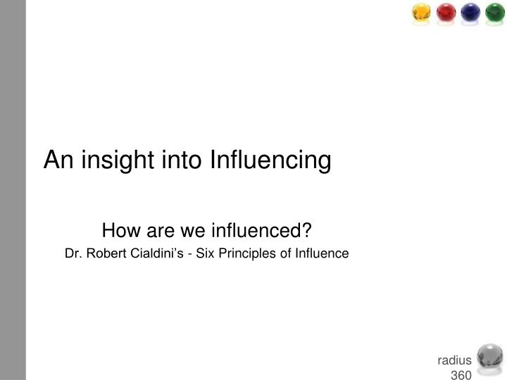 An insight into Influencing