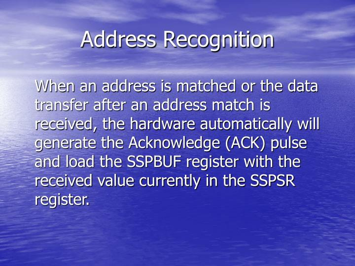 Address Recognition