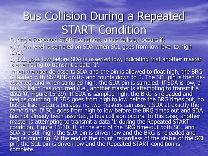 Bus Collision During a Repeated START Condition