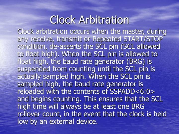 Clock Arbitration