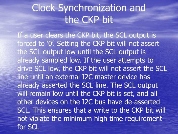 Clock Synchronization and