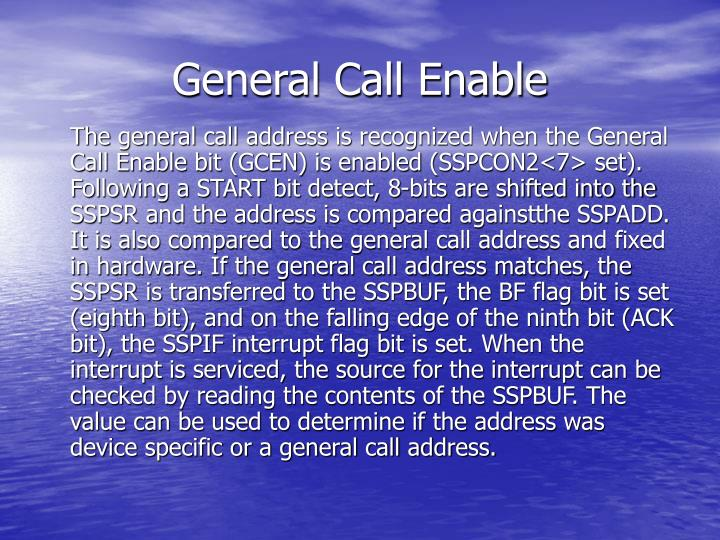 General Call Enable