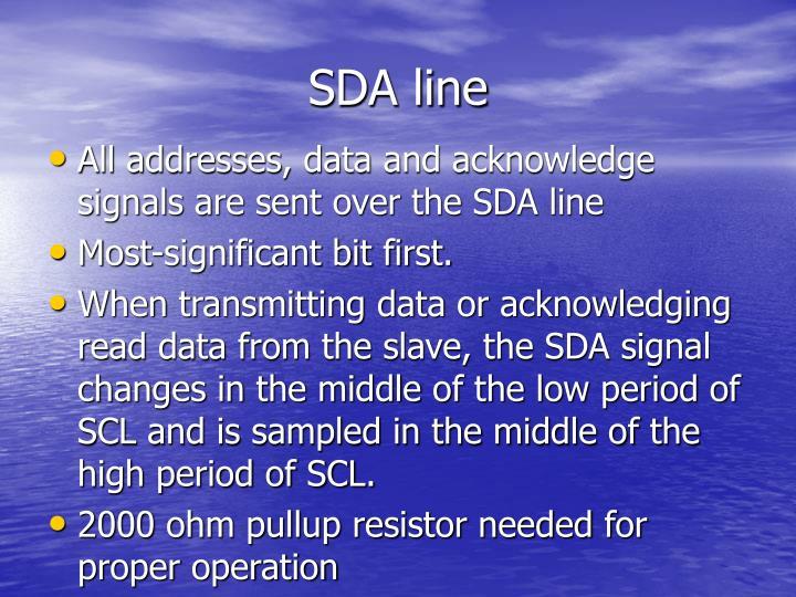 SDA line
