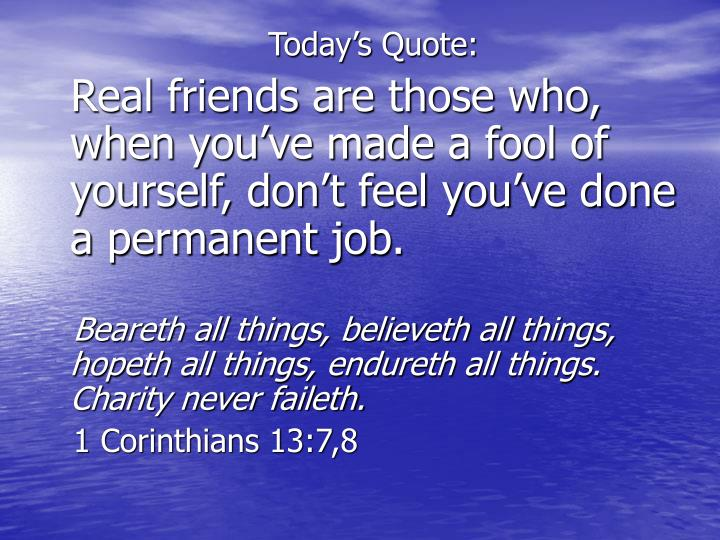 Today's Quote: