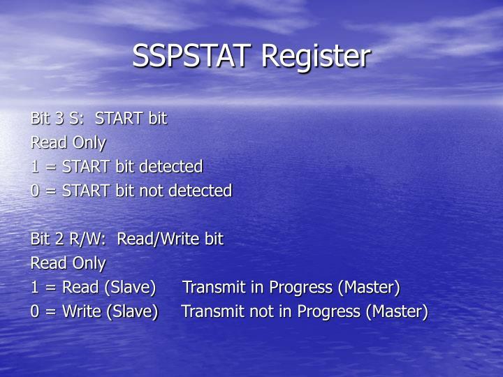 SSPSTAT Register