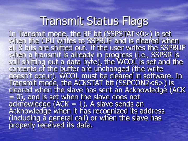 Transmit Status Flags