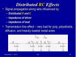 distributed rc effects