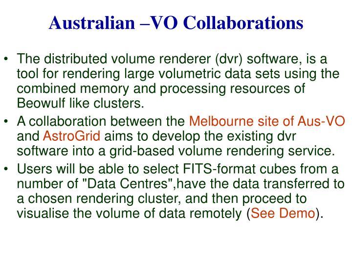 Australian –VO Collaborations