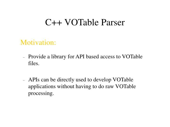 C++ VOTable Parser