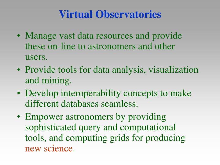 Virtual Observatories