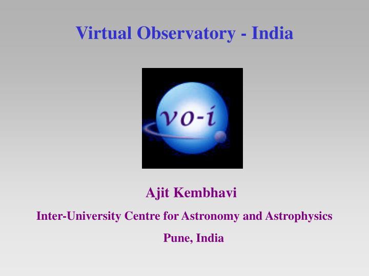 Virtual observatory india