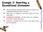 example 2 rewriting a biconditional statement