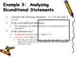example 3 analyzing biconditional statements