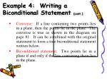 example 4 writing a biconditional statement cont