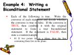 example 4 writing a biconditional statement