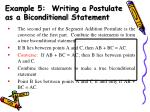 example 5 writing a postulate as a biconditional statement