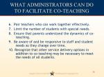 what administrators can do to facilitate co teaching1