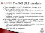 the roi irr analysis