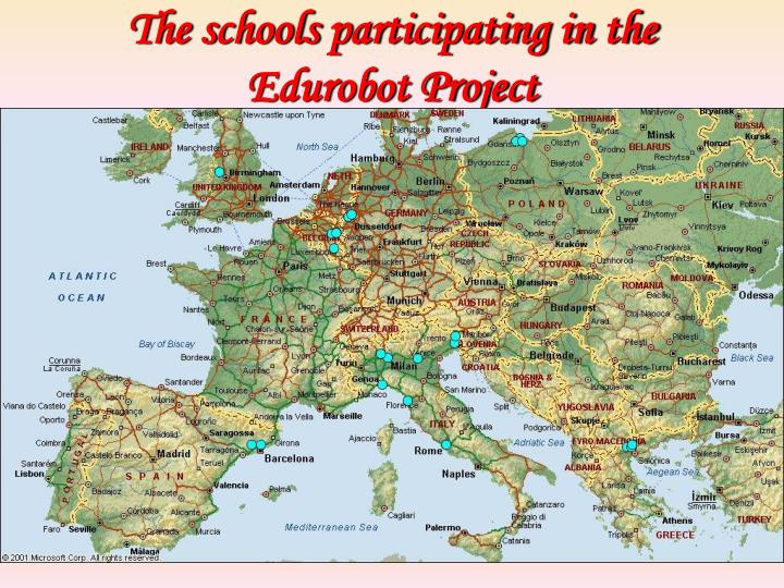 The schools participating in the edurobot project