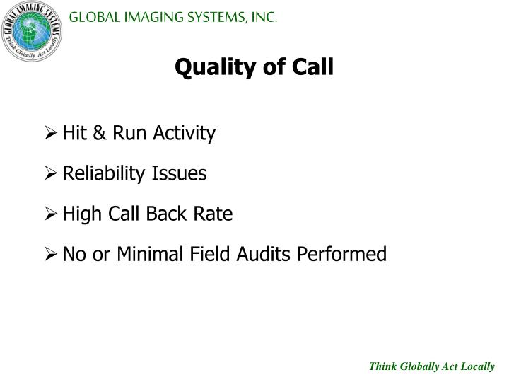Quality of Call