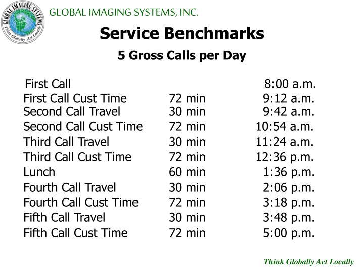 Service Benchmarks