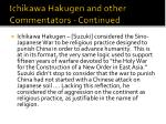 ichikawa hakugen and other commentators continued1