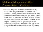 ichikawa hakugen and other commentators continued2