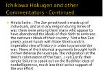 ichikawa hakugen and other commentators continued3