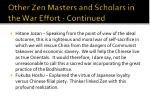 other zen masters and scholars in the war effort continued1