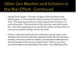 other zen masters and scholars in the war effort continued2