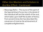 other zen masters and scholars in the war effort continued3