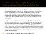 the postwar zen responses to imperial way buddhism imperial state zen and soldier zen