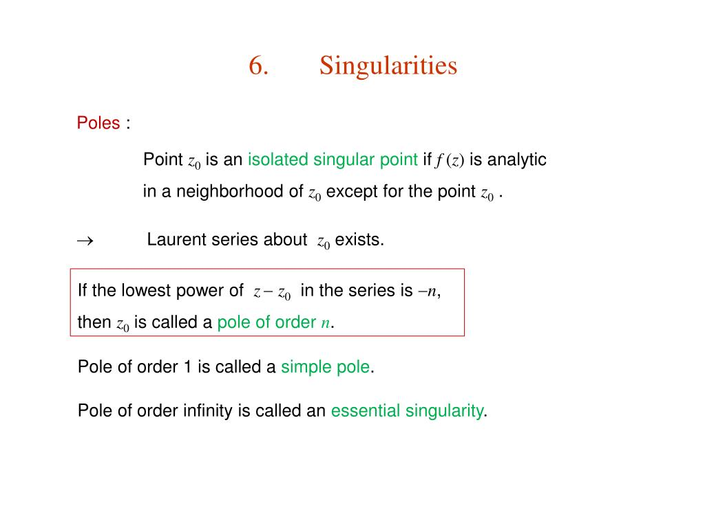 PPT - 11  Complex Variable Theory PowerPoint Presentation