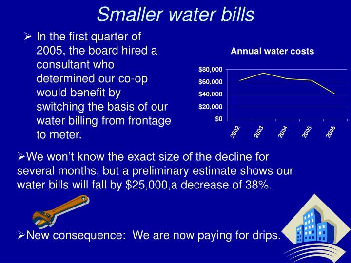 Smaller water bills