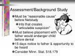 assessment background study