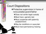 court dispositions