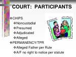 court participants