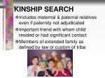 kinship search